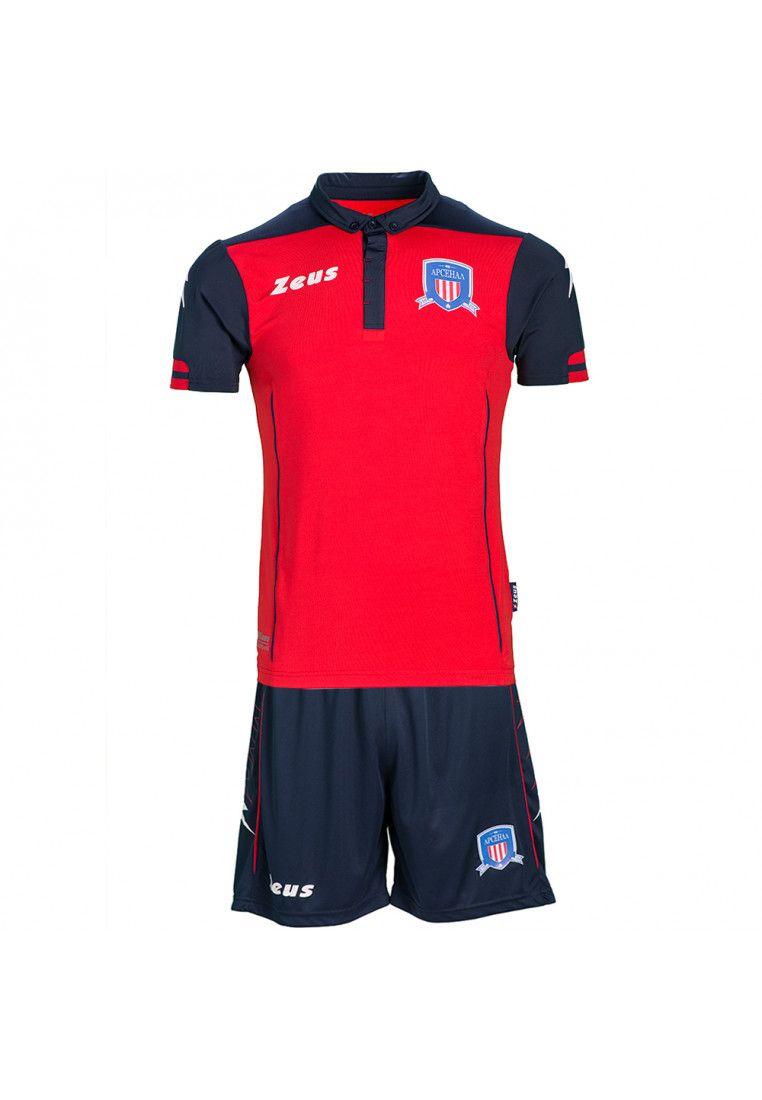 Футбольная форма (шорты, футболка) Zeus KIT AQUARIUS RE/BL Z00190/A