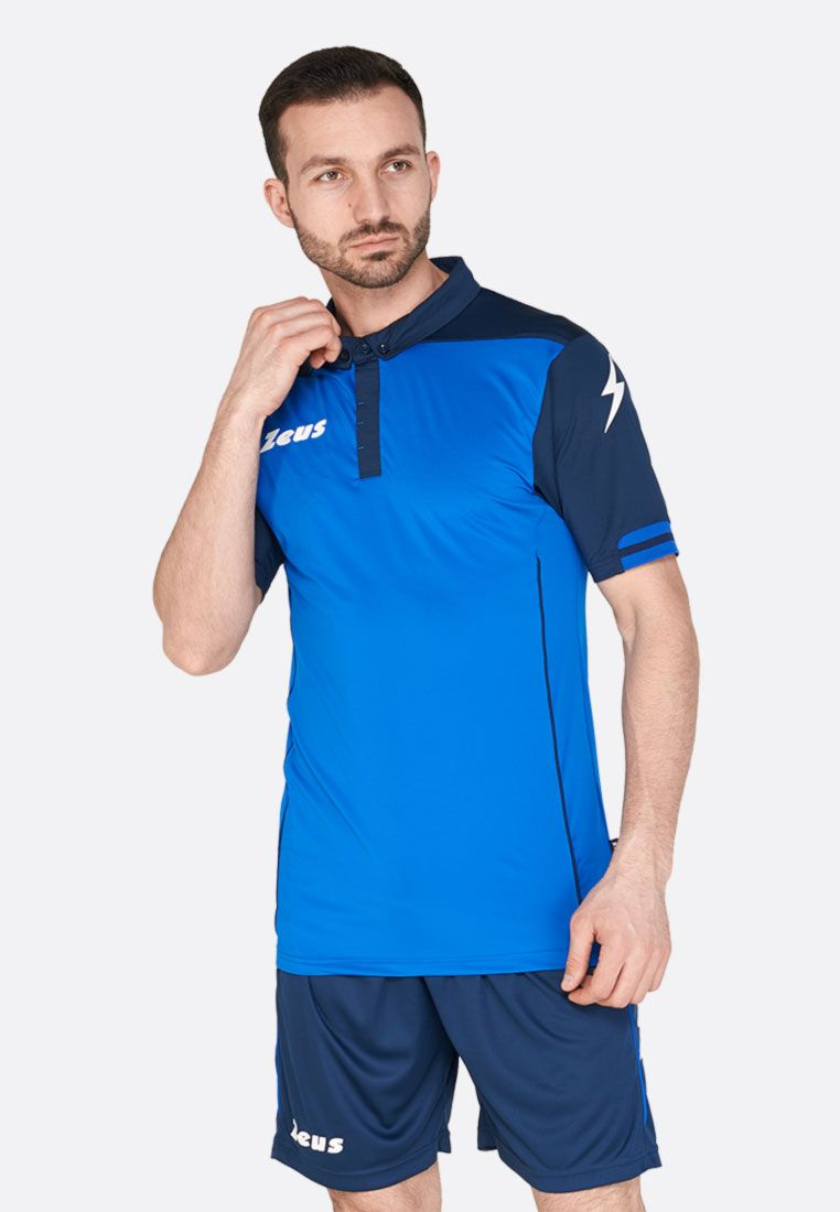 Футбольная форма (шорты, футболка) Zeus KIT AQUARIUS RO/BL Z00191