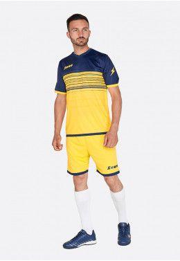 Футбольная форма (шорты, футболка) Zeus KIT ELIO GI/BL Z00207