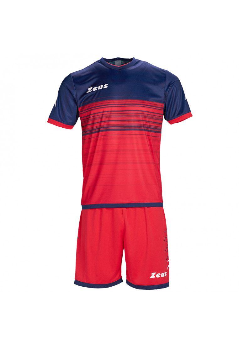 Футбольная форма (шорты, футболка) Zeus KIT ELIO RE/BL Z00210