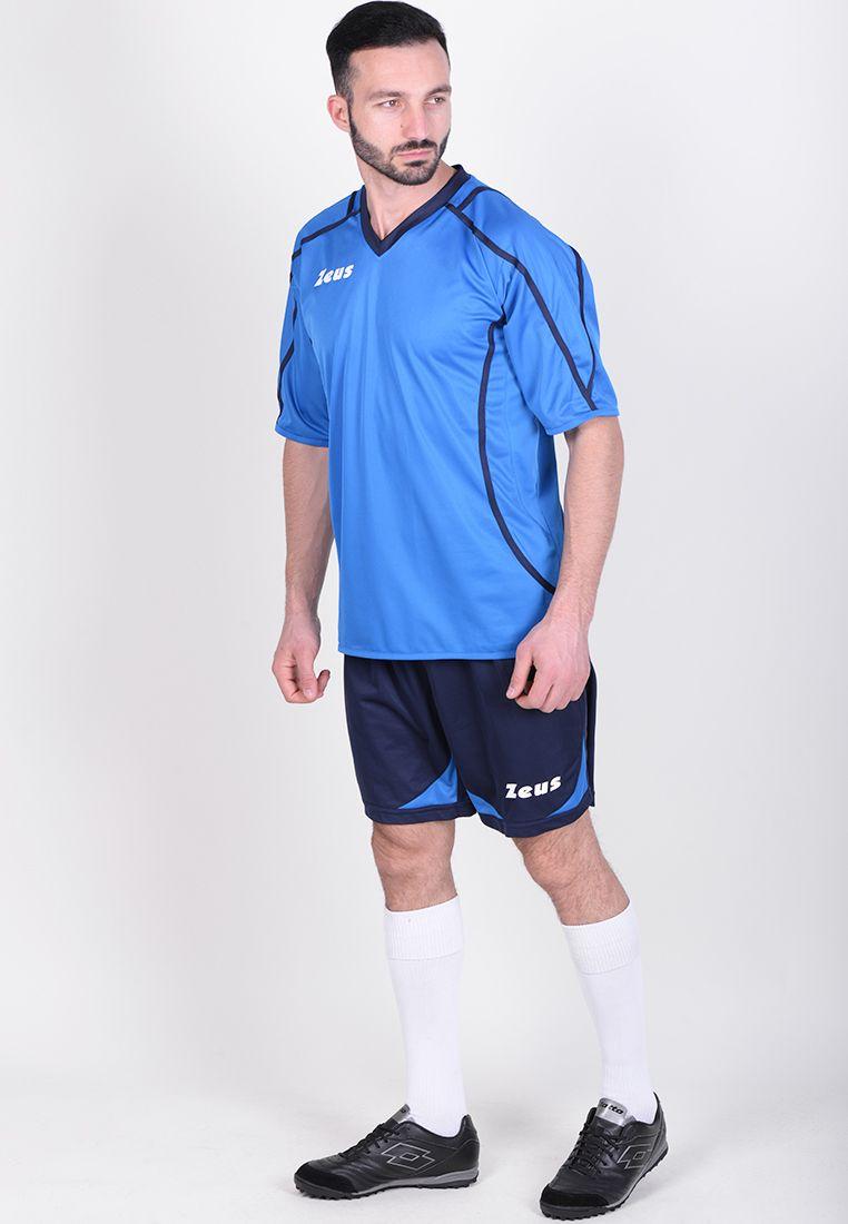 Футбольная форма (шорты, футболка) Zeus KIT FAUNO M/C BL/RO Z00216