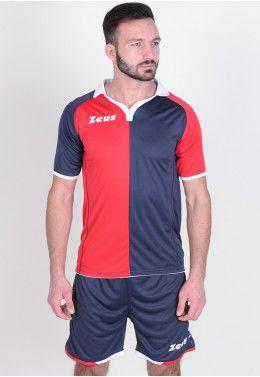 Футбольная форма (шорты, футболка) Zeus KIT GRYFON BL/RE Z00220
