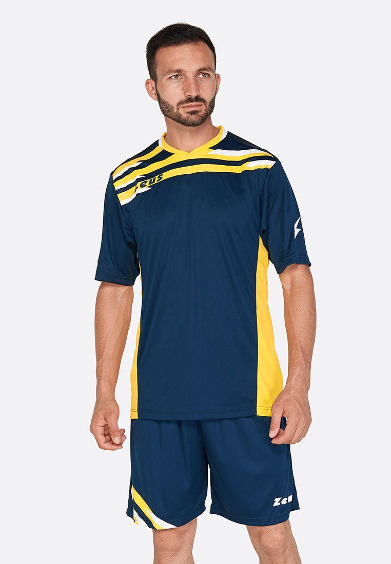 Футбольная форма (шорты, футболка) Zeus KIT ITACA UOMO BL/GI Z00226