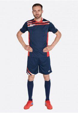 Футбольная форма (шорты, футболка) Zeus KIT ITACA UOMO BL/RE Z00227