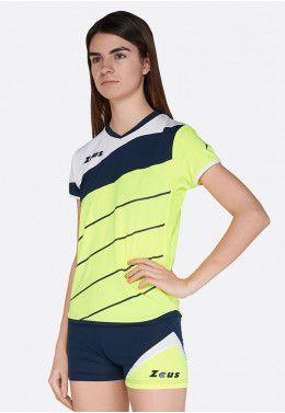 Волейбольная форма (шорты, футболка) Zeus KIT SARA LR/PF Z01005 Волейбольная форма (шорты, футболка) Zeus KIT LYBRA DONNA FL/BL Z00230