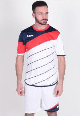 Футболка футбольная Zeus MAGLIA MC MONOLITH NERO Z01193 Футбольная форма (шорты, футболка) Zeus KIT LYBRA UOMO BI/RE Z00233