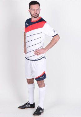 Футбольная форма (шорты, футболка) Zeus KIT FAUNO M/C BL/RO Z00216 Футбольная форма (шорты, футболка) Zeus KIT LYBRA UOMO BI/RE Z00233