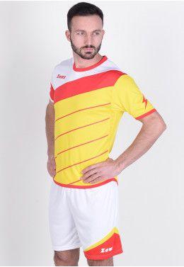 Футбольная форма (шорты, футболка) Zeus KIT LYBRA UOMO GI/RE Z00238