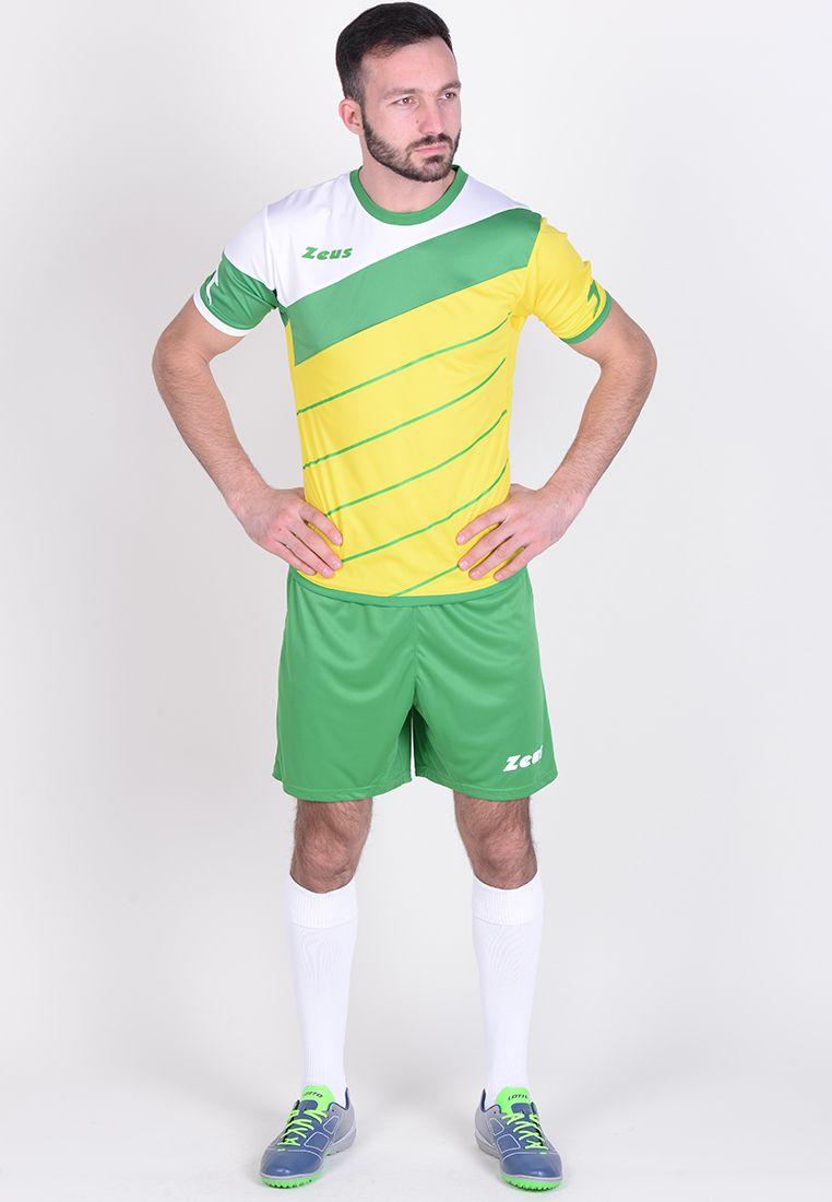 Футбольная форма (шорты, футболка) Zeus KIT LYBRA UOMO GI/VE Z00239
