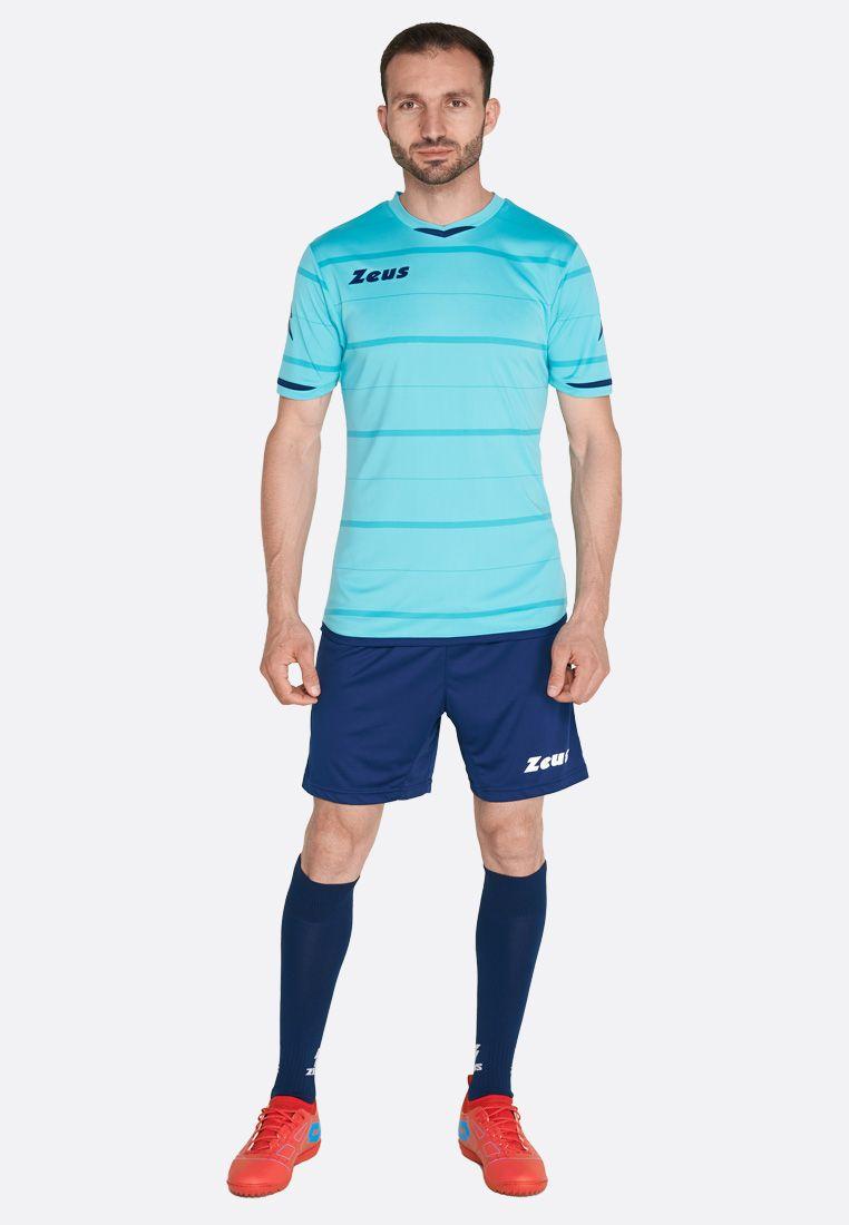 Футбольная форма (шорты, футболка) Zeus KIT OMEGA AQ/BL Z00241