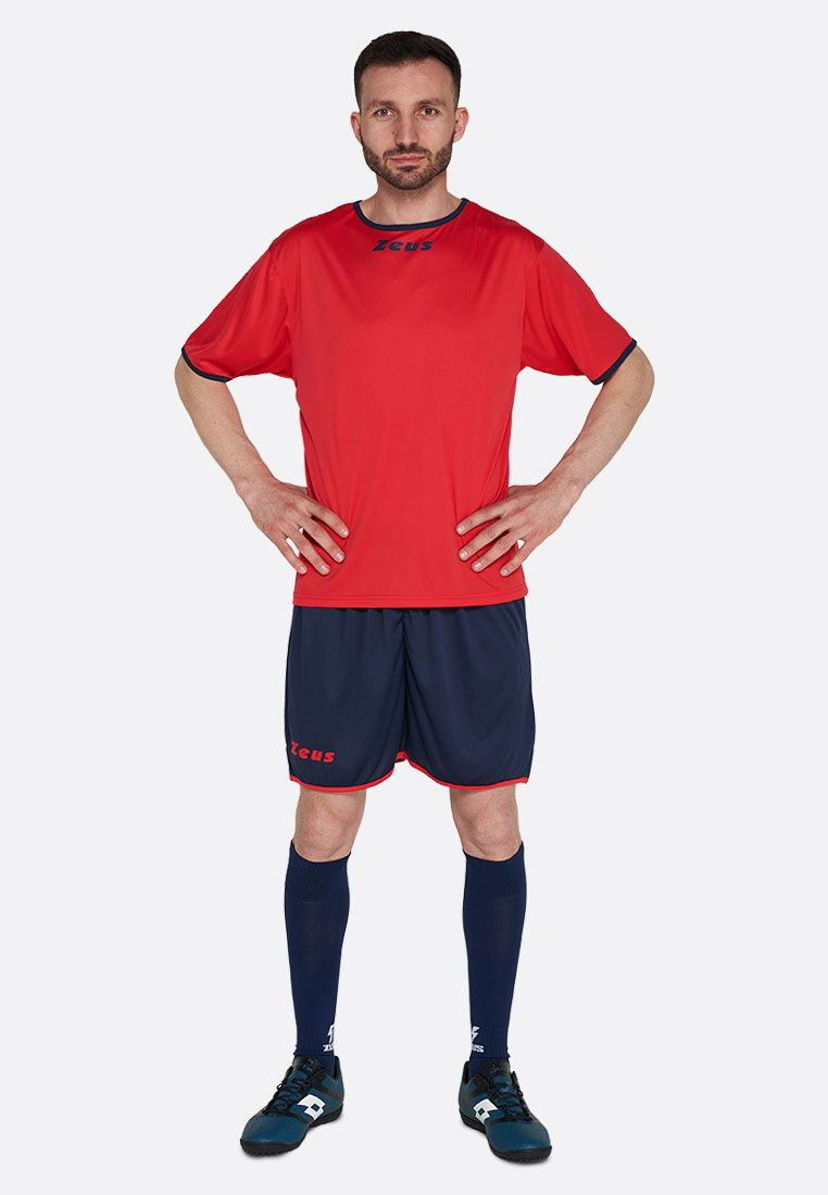 Футбольная форма (шорты, футболка) Zeus KIT STICKER RE/BL Z00292