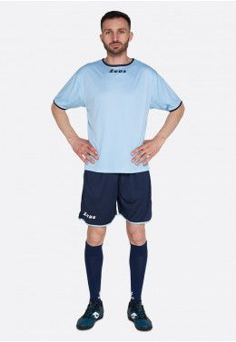Футбольная форма (шорты, футболка) Zeus KIT STICKER SK/BL Z00295