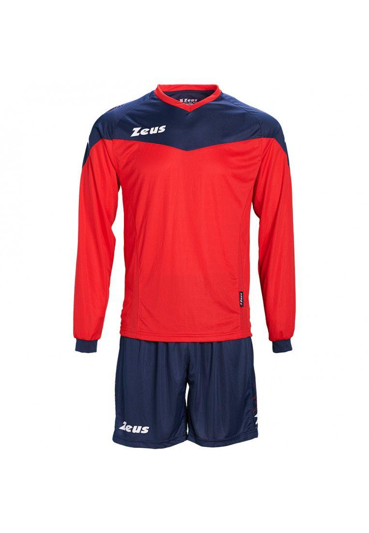 Футбольная форма (шорты, футболка длинный рукав) Zeus KIT ULYSSE M/L RE/BL Z00300