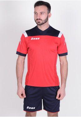 Футболка футбольная Zeus MAGLIA MC MONOLITH NERO Z01193 Футбольная форма (шорты, футболка) Zeus KIT VESUVIO BL/RE Z00302