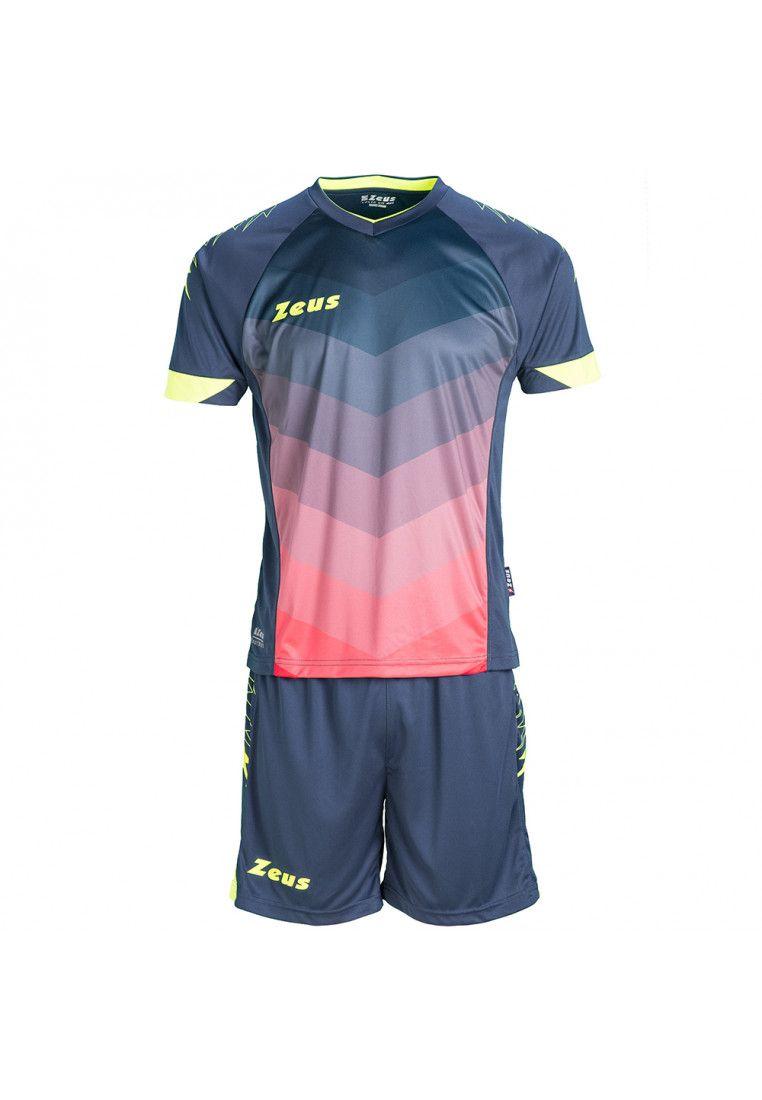 Футбольная форма (шорты, футболка) Zeus KIT VIRGO BL/RE Z00303