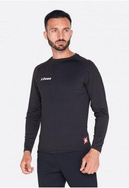 Распродажа футболок, теннисок, шорт Футболка термо с длинным рукавом Zeus MAGLIA FISIKO M/L NERO Z00326