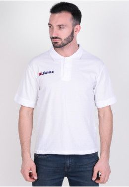 Спортивный костюм Zeus TUTA TRAINING ULYSSE BL/RE Z00468 Тенниска Zeus POLO BASIC M/C BIANC Z00365