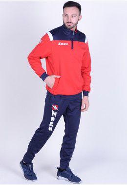 Спортивный костюм (+ шорты) Zeus TRIS TKS + BERMUDA NAPOLI BL/LR Z00394 Спортивный костюм Zeus TUTA TRAINING VESUVIO BL/RE Z00471