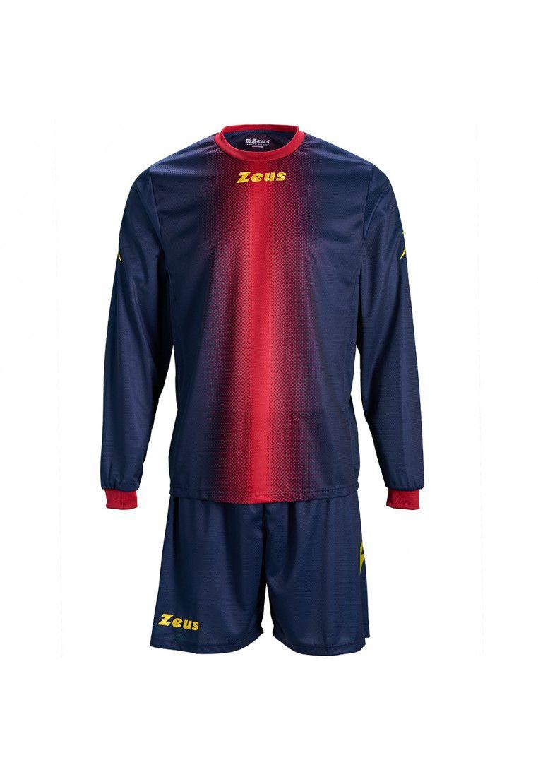 Футбольная форма (шорты, футболка длинный рукав) Zeus KIT ERCOLE BL/RE Z00527