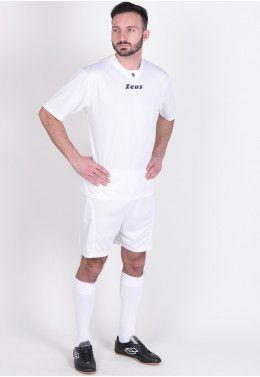 Футбольная форма (шорты, футболка) Zeus KIT LYBRA UOMO BL/LR Z00234 Футбольная форма (шорты, футболка) Zeus KIT PROMO BIANC Z00577
