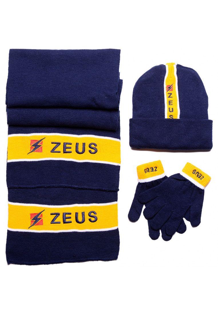 Набор (шапка, шарф, перчатки) Zeus TRIS WINTER BL/GI Z00611