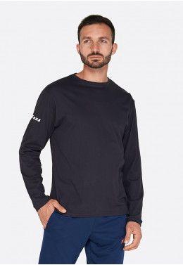 Распродажа футболок, теннисок, шорт Футболка (длинный рукав) Zeus T-SHIRT BASIC LS NERO Z00617