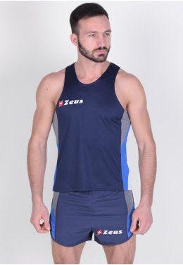 Спортивный костюм (брюки 3/4) Zeus TUTA VIKY NE/AR Z00642 Майка для бега (+ шорты) Zeus KIT BRUNO BL/GG Z00677