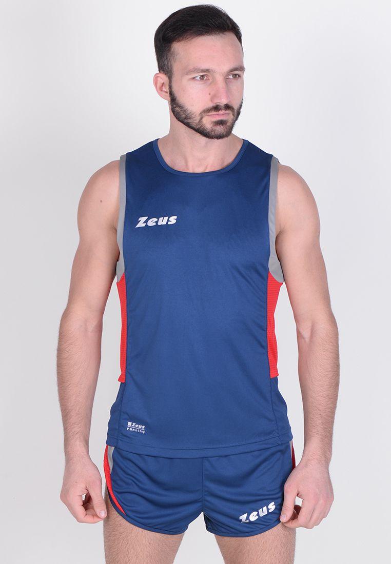Майка для бега (+ шорты) Zeus KIT RUNNING ATLANTE BL/RE Z00703