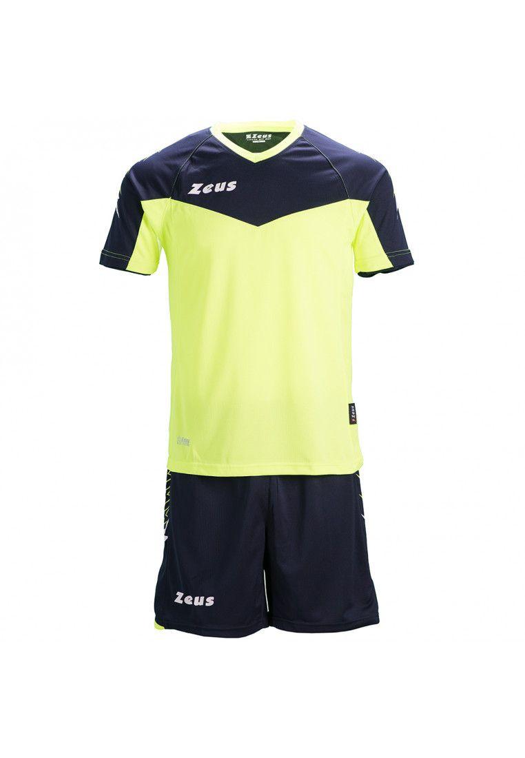 Футбольная форма (шорты, футболка) Zeus KIT CALCIO ULYSSE M/C BL/GF Z00849