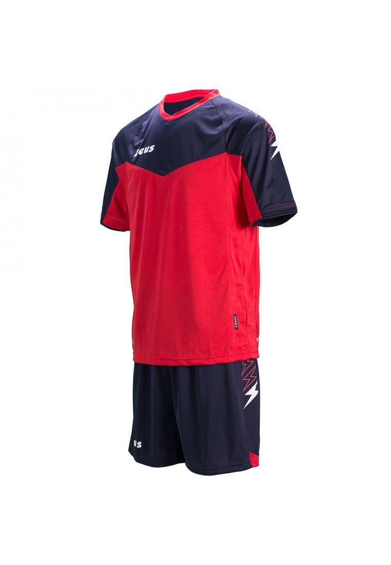 Футбольная форма (шорты, футболка) Zeus KIT CALCIO ULYSSE M/C BL/RE Z00850