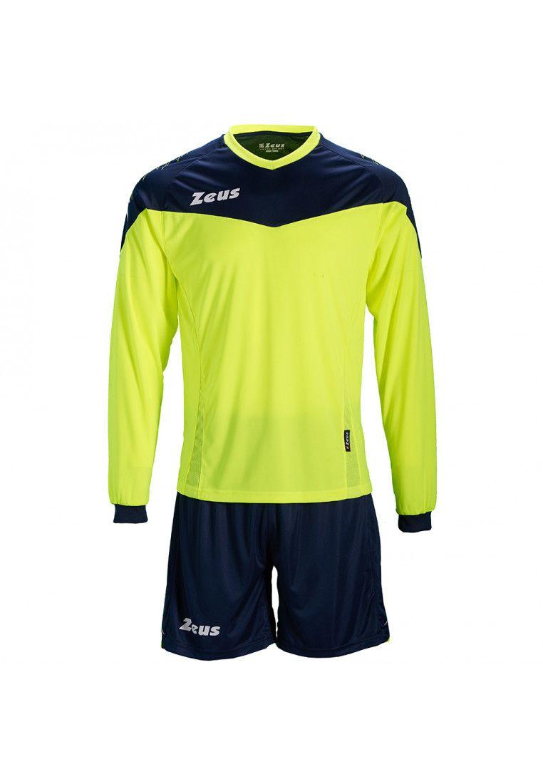 Футбольная форма (шорты, футболка длинный рукав) Zeus KIT ULYSSE M/L GF/BL Z00896