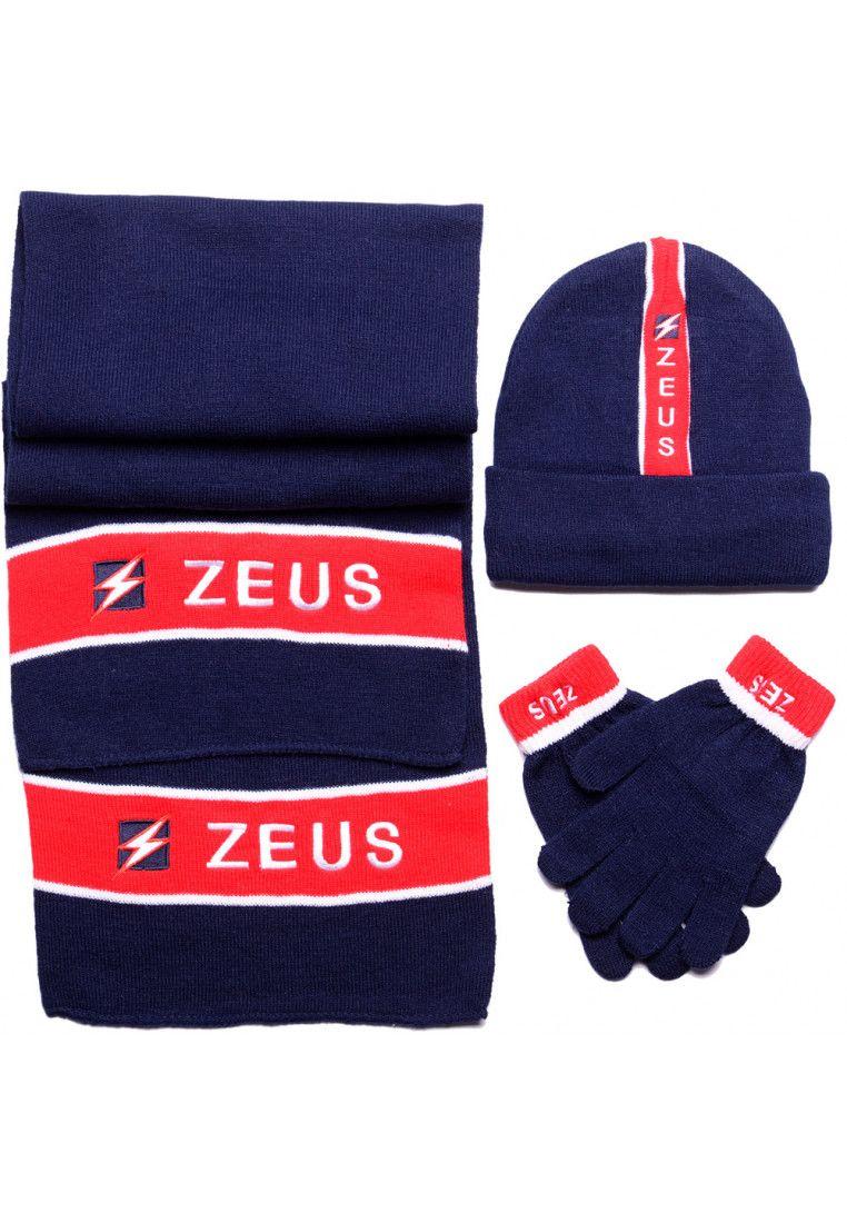 Набор (шапка, шарф, перчатки) Zeus TRIS WINTER BL/RE Z00952
