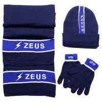 Набор (шапка, шарф, перчатки) Zeus TRIS WINTER BL/RO Z00953