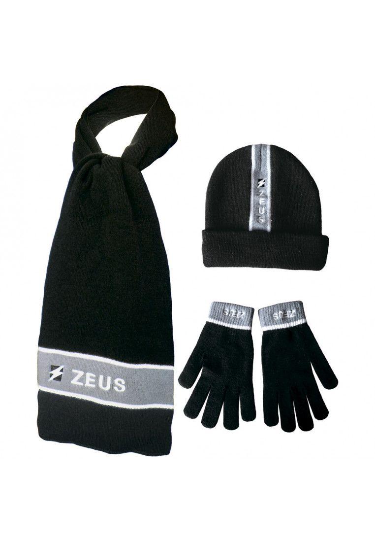 Набор (шапка, шарф, перчатки) Zeus TRIS WINTER NE/GG Z00954