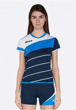 Волейбольная форма (шорты, футболка) Zeus KIT KLIMA BI/BL Z00689 Волейбольная форма (шорты, футболка) Zeus KIT LYBRA DONNA BL/LR Z00968