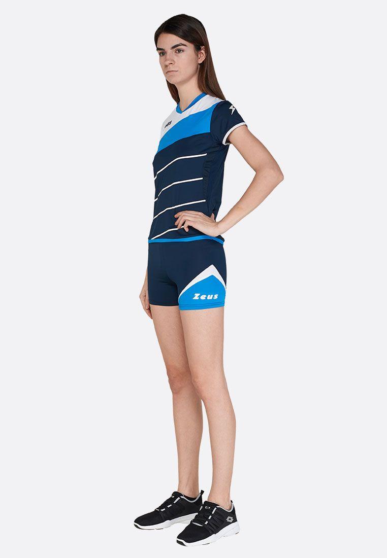 Волейбольная форма (шорты, футболка) Zeus KIT LYBRA DONNA BL/LR Z00968