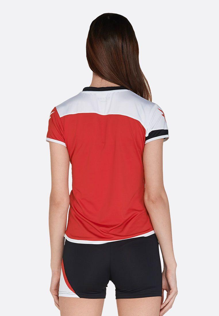 Волейбольная форма (шорты, футболка) Zeus KIT LYBRA DONNA RE/NE Z01021
