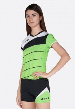 Топ Zeus CANOTTA BEACH DONNA PRO ARFLU Z01183 Волейбольная форма (шорты, футболка) Zeus KIT LYBRA DONNA VE/NE Z01022