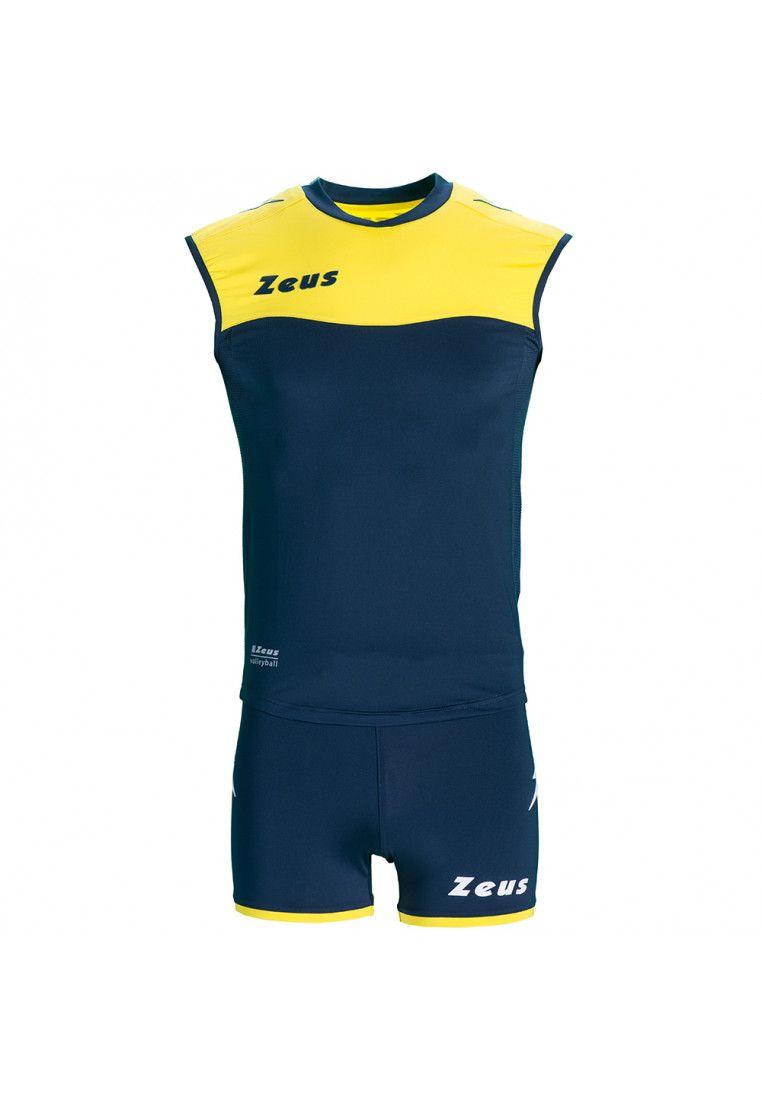 Волейбольная форма (шорты, футболка) Zeus KIT SARA BL/GI Z01075