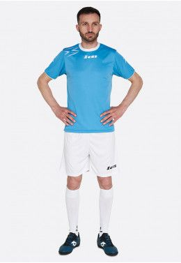 Футбольная форма (шорты, футболка) Zeus KIT LYBRA UOMO BL/LR Z00234 Футболка футбольная Zeus SHIRT MIDA TQ/BI Z01241