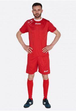 Футбольная форма (шорты, футболка) Zeus KIT LYBRA UOMO BL/LR Z00234 Футболка футбольная Zeus SHIRT MIDA RE/BI Z01307