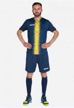 Футбольная форма (шорты, футболка) Zeus KIT PERSEO BL/GI Z01563