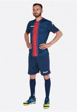 Футбольная форма (шорты, футболка) Zeus KIT PERSEO BL/RE Z01564