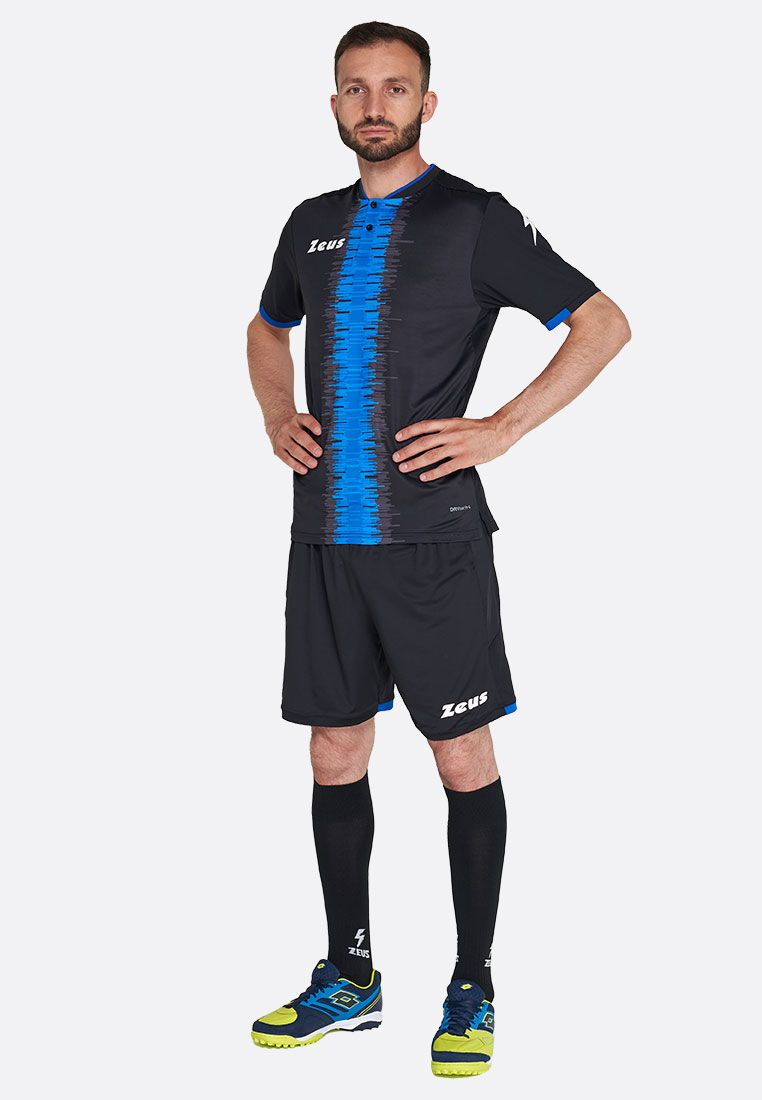 Футбольная форма (шорты, футболка) Zeus KIT PERSEO NE/RO Z01566